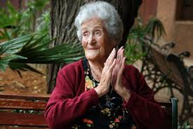 Elderly Lady Clapping Her Hands